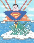 Superman Flying Out of the Fortress of Solitude by SunfireRanger