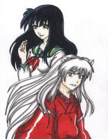 Inuyasha and Kagome :3 by StrawberryLoveAlways