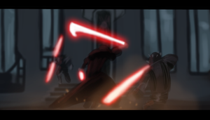 Sidious vs maul and savage. by AtomicWarpin