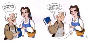 Belle and the bookseller by SilverLady7