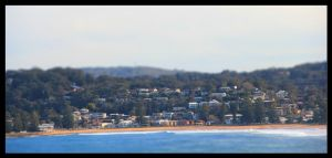 Terrigal Beach Tilt Shift by FlamingAvocado