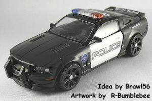 Barricade becomes a GT500 KR by Rumblebee88