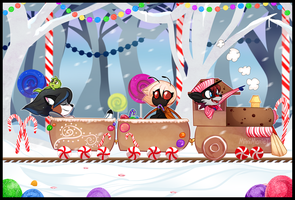 COM: The Gingerbread Train Adventure by MimiMarieT