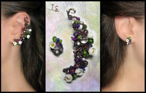 Ear cuff and stud May by JSjewelry