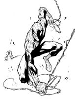 Spidey sketch inks by JoeyVazquez