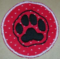 Black on Red Puppy Paw Patch by Miss-Minerva-Sage