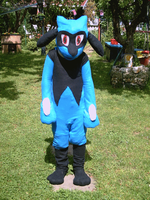 riolu costume cosplay fursuit by shadowhatesomochao