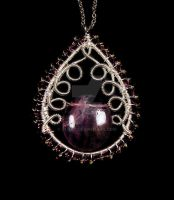 Amethyst indian pendant by OlgaC