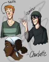 AaG-Minor Character SketchDump by Crista-Galli