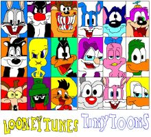 Looney Tunes and Tiny toons by Ricsi1011