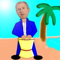 G W bush on the drum by ace-goldstar