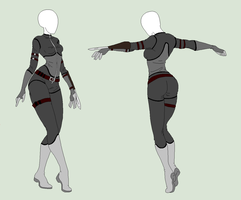 Custom Outfit - The Secret Agent by ShadowInkAdopts