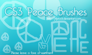 CS3 Peace Brushes by j4jstock