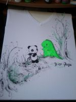 Hand-painted T-shirts 001.2 by MelodicInterval