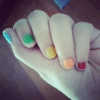 Rainbow at my fingertips by lennerose