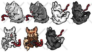 Lil' baby wolves by geckoguy123456789