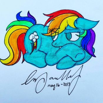 Rainbow dash  by SydneyPaullet