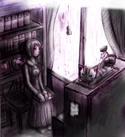 The Girl's Room-MoNocHroMe- by ReenaCat