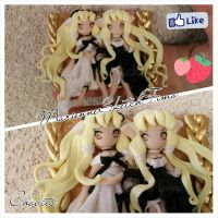 Chobits Picture Handmade Polymer Clay by DarkettinaMarienne