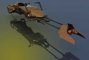 3d speeder bike hero shot by TomKellyART
