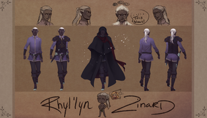 Draw Me A Drow Contest Entry-- Rhyl'lyn Zinard by Miisu