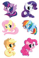 MLP FIM Sticker Sheet by KMWolf