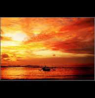 Sunset at uJung genteng by penoza