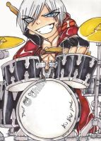 Dante on drums by Chibi-Goddess-Ny
