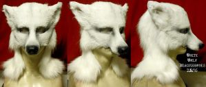 White Wolf LARP Mask w/Full hood by Magpieb0nes