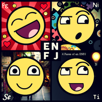 4 Faces of an ENFJ. by 4facesmbti