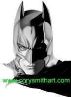 dark knight by corysmithart
