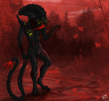 CP: The blood red road by SheWolfey