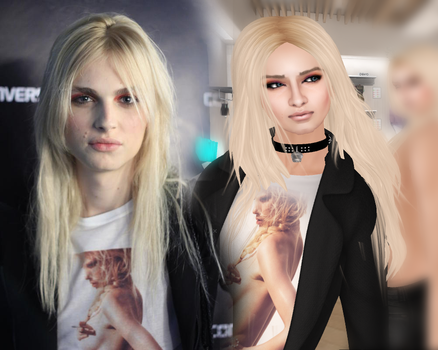 Andrej Pejic on Second Life by PrincessCakeNikki