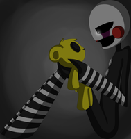 The puppet and golden freddy's by eliotakugamer01