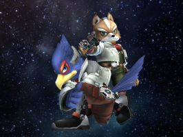SSBB - Fox and Falco 2 by Zakca