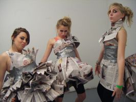 newspaper dresses 2 by bubblycircumstances