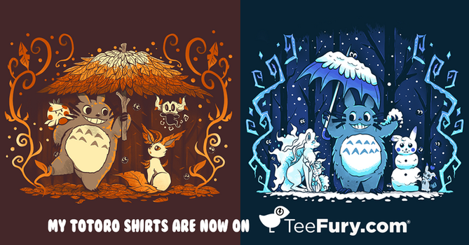My two Totoro shirts are now on TeeFury.com! by SarahRichford