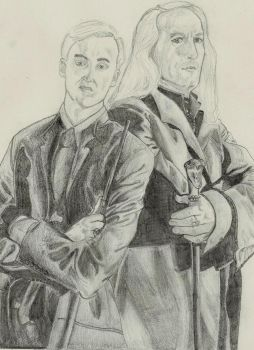 Draco and Lucius Malfoy by lshell103