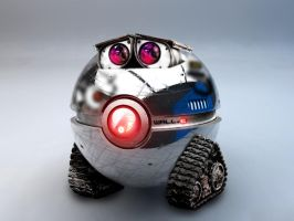 The WALL-E Pokeball by wazzy88