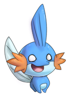 Mudkip by GlassPanda
