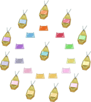 Digimon Adventure - All Crests and Tags HD + Lines by NelaNequin