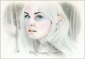 Elven snow queen by Katerina-Art