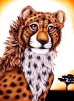 Cheetah Practice-trial No. 2 by FallenAngelWolf13