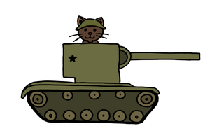 KV-2 Kitty by akaLOLCat