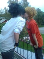 Sweet moment before a kiss by cosplay-violin