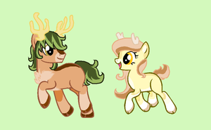 CUSTOMS - Deer Ponies for SamithaM by Arxielle