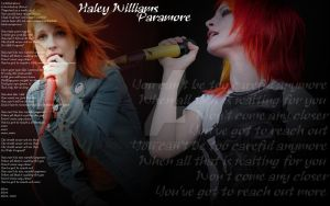 Careful Paramore's  Haley Williams by darksidedragon
