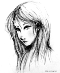 Girl sketch by the-biologist