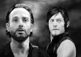 -Rick and Daryl- by obsceneblue
