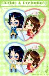Pride and Prejudice: keychains by melem